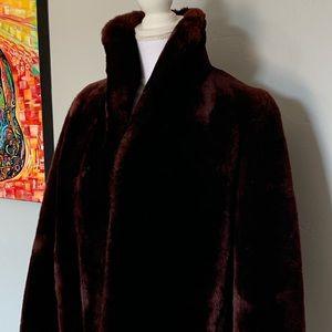 Vintage Faux Fur Dress Formal Coat